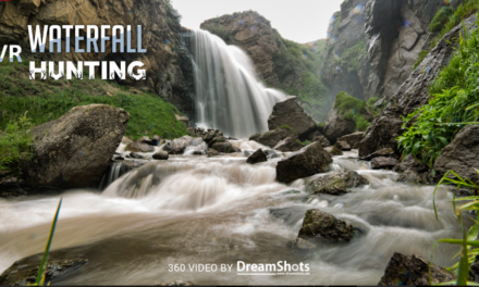 The waterfall hunting game for VR 2020