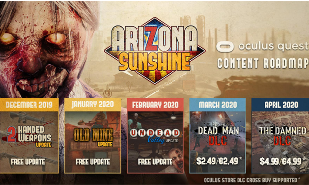 """Arizona sunshine "" back with the new update in Oculus"